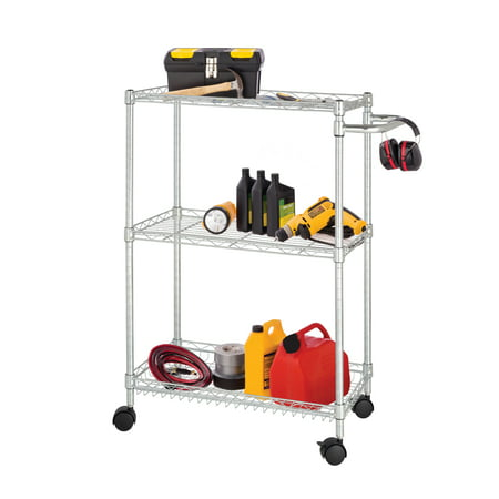 Chrome Open Base Utility Cart - HSS 13.4