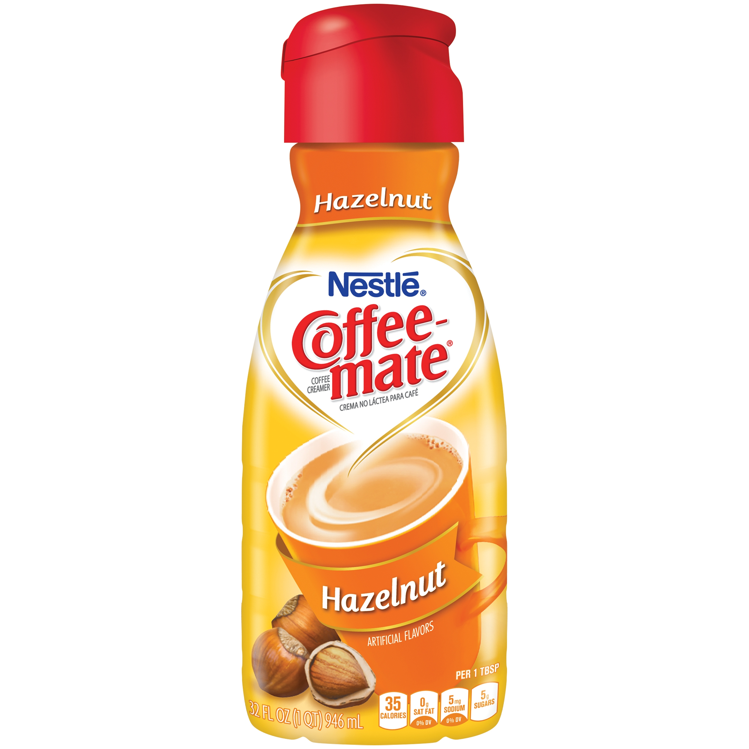 COFFEE-MATE Hazelnut Liquid Coffee Creamer 32 fl. oz. Bottle