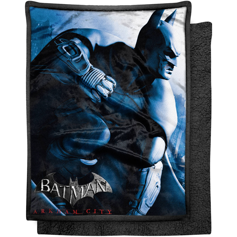 "Warner Bros. Batman ""Enter Arkham City"" 46"" x 60"" Mink Sherpa Throw"