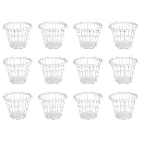 Sterilite, 1 Bushel/35 L Laundry Basket, Mainstay White, Case of 12 ()