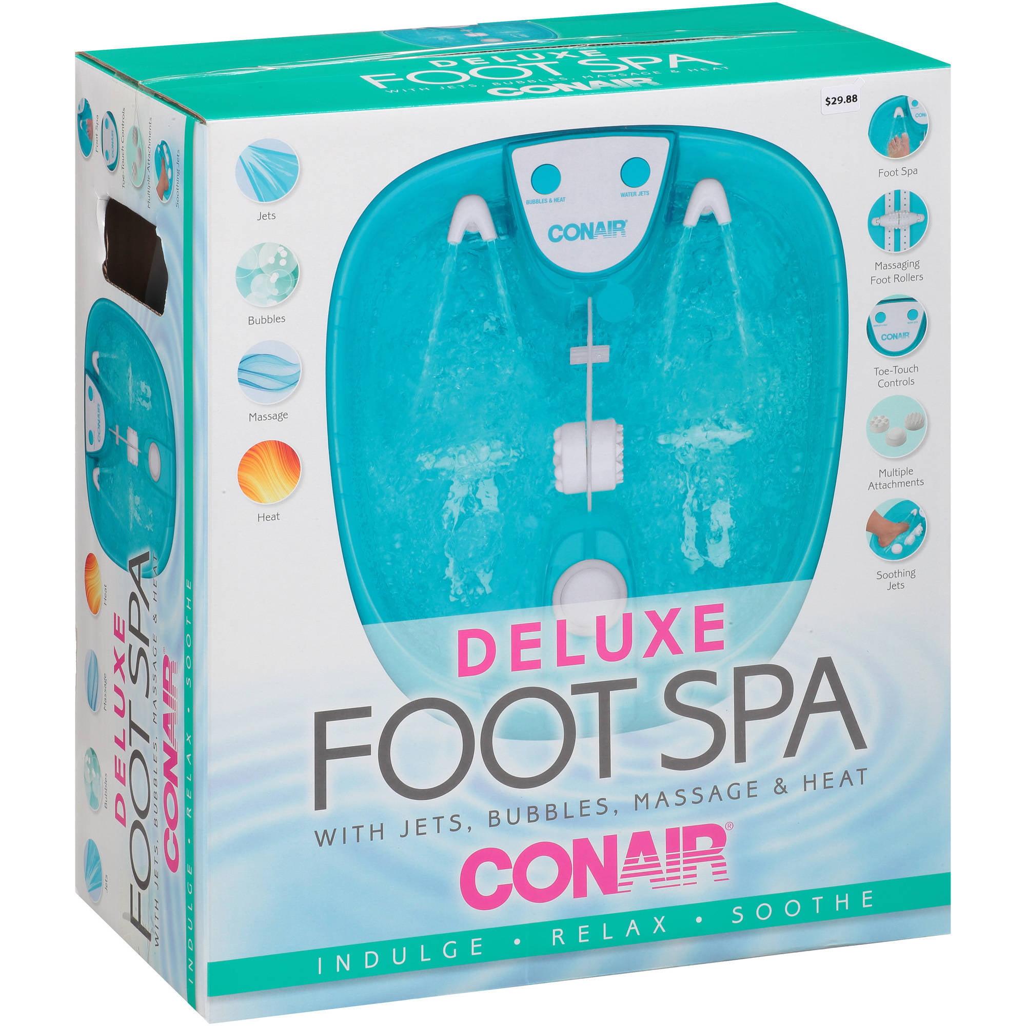 Conair Deluxe Foot Spa with Bubbles, Massage & Heat - Walmart.com