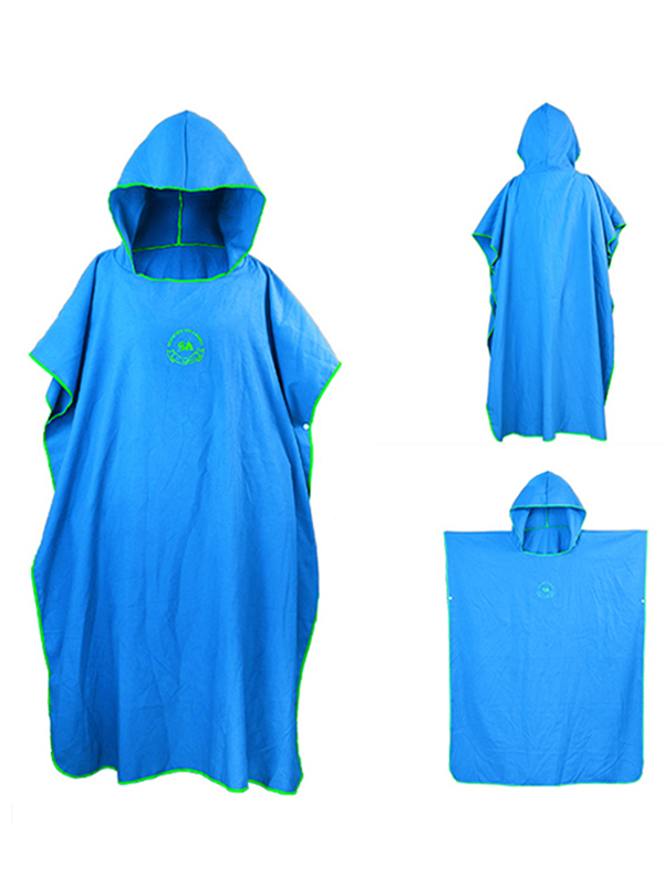 Robe Towel Poncho with Hood Microfiber Surf Poncho Wetsuit Changing Towel,Compact&Light Weight,Perfect for... by