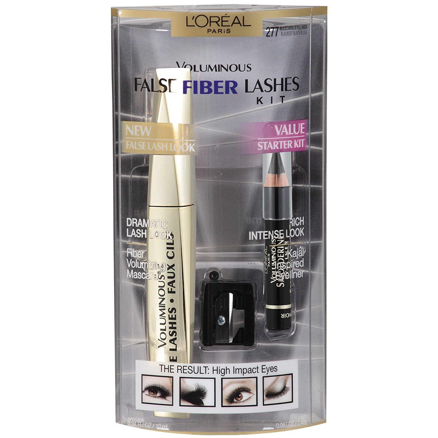 Voluminous False Fiber Mascara Lash Kit By LOreal Paris