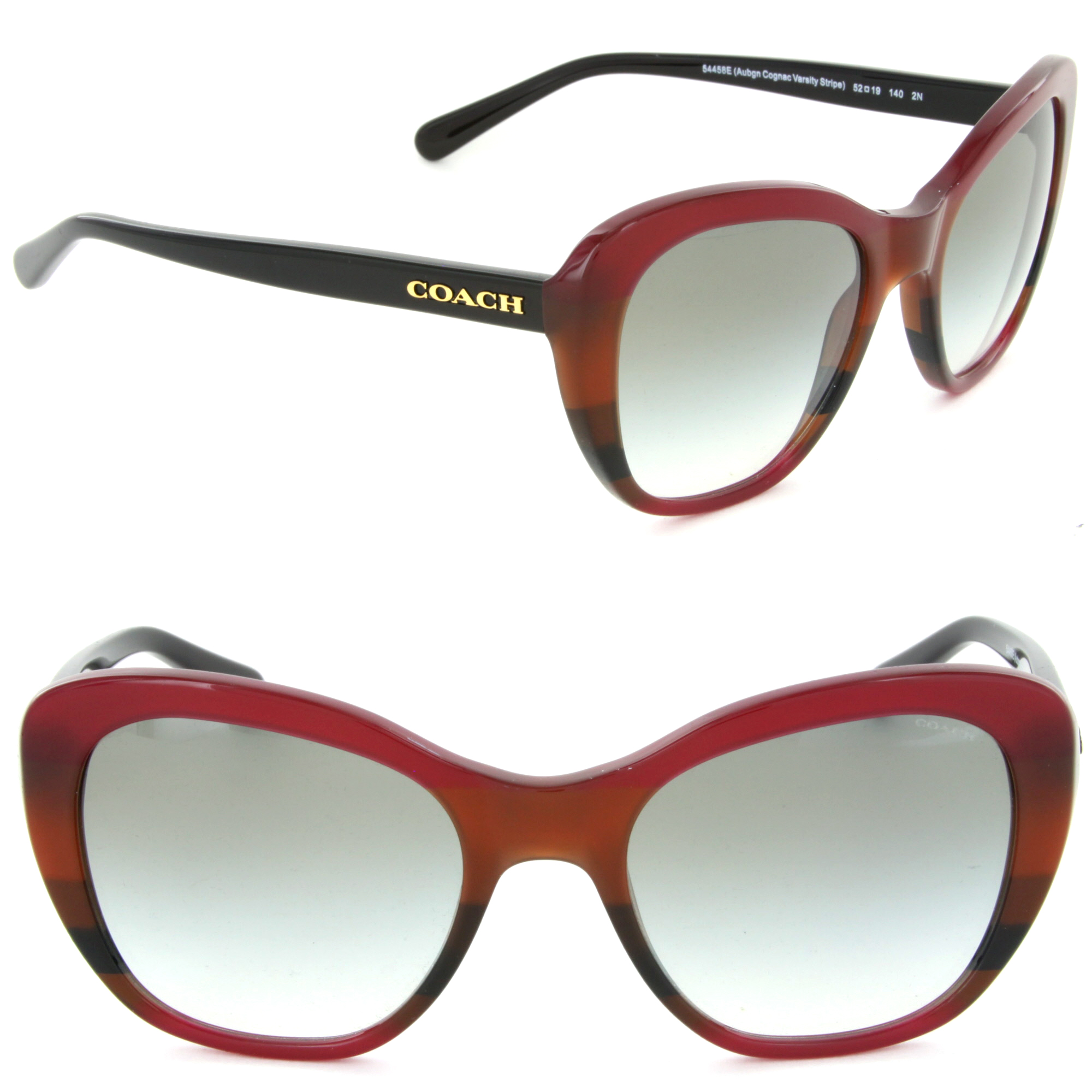 553f2c9c9c187 ... official store coach hc8204 54458e cat eye sunglasses aubgn cognac  varsity stripe green gradient lens 22360