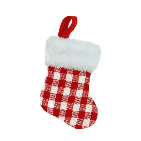 Plaid Christmas Stocking (7