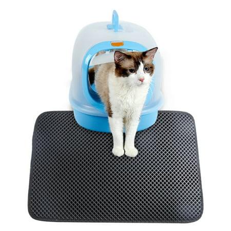 Pet Cats Waterproof Litter Trapper Litter Mat Pet Double Layer Litter Mat Easy Clean Cats Mat Pet Home And Garden Supplies ()