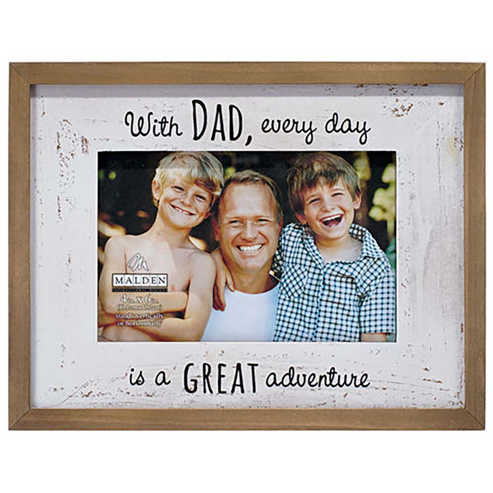 Malden Dad Great Adventure 4x6 Picture Frame