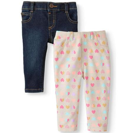 33d5057964946 Garanimals - Printed Jeggings & Skinny Jeans, 2-pack (Baby Girls ...