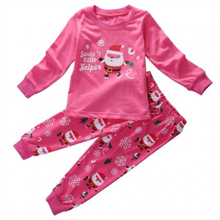 0d8ed2269 Honganda - Xmas Santa Claus Baby Kids Boys Girls Nightwear Sleepwear ...