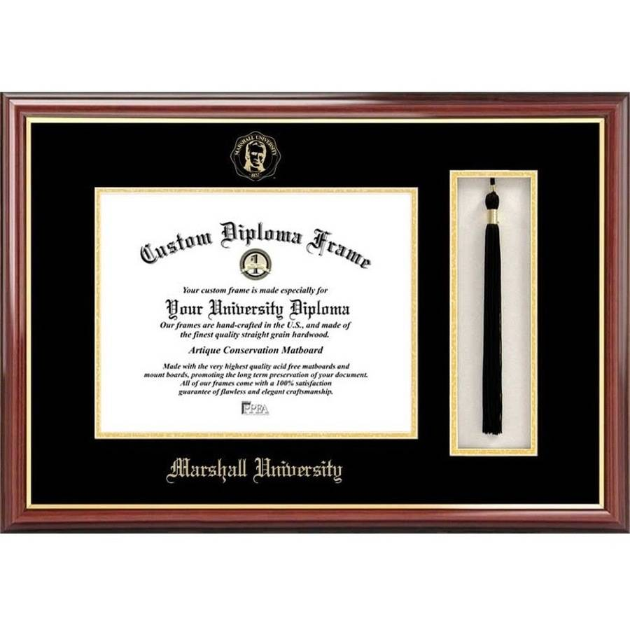 "Marshall University 8.5"" x 11"" Tassel Box and Diploma Frame"