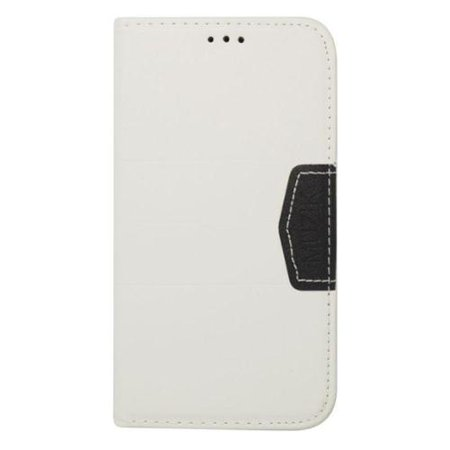 Insten Book-Style Leather Wallet Cover Case with Card slot For Samsung Galaxy S5 - White/Black ()