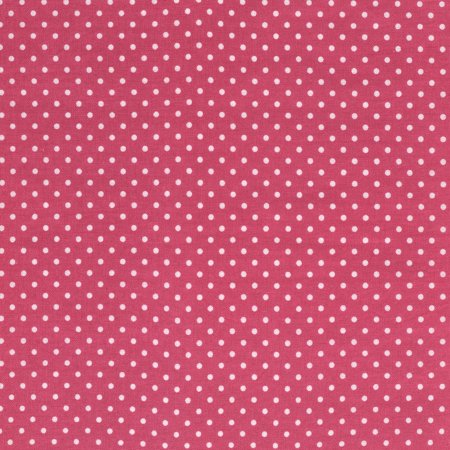 SHASON TEXTILE (3 Yards cut) 100% COTTON PRINT QUILTING FABRIC, HOT PINK / WHITE SMALL DOTS.
