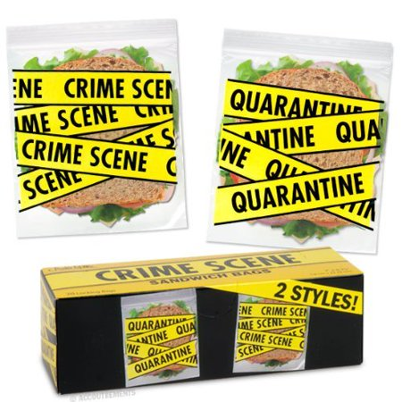 7 Inch Sandwich - Crime Scene Sandwich Bags (20 Locking bags), You get 20 7