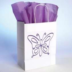 Bob Siemon Designs - Bob Siemon Designs 58069 Gift Bag Butterfly With Tissue Small White