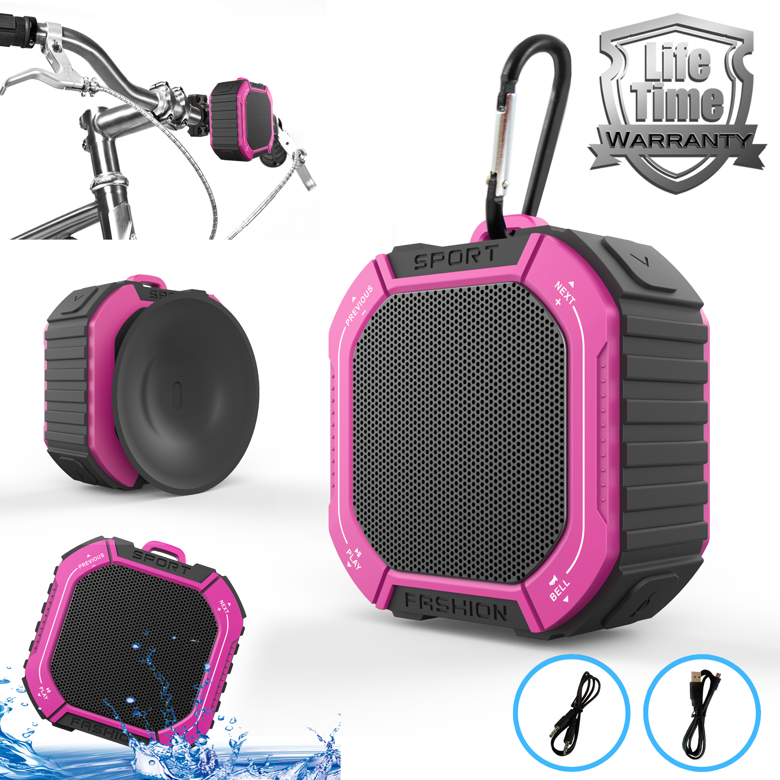 INNOVAA Sport Outdoor & Shower Bluetooth 4.0 Speaker With Bass and HD Sound