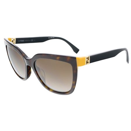 Fendi FF0128S 0TRD Dark Havana/Black Square sunglasses