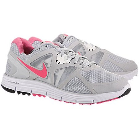 bd18e18ec22f7 ... Nike - Nike Lunarglide+3 Womens Running Shoes 454315-061 Pro Platinum  Pink Flash ...