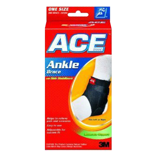 Ace Ankle Brace With Side Stabilizers One Size, Universal, Model No : 207266 - 1 Ea