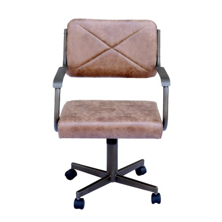 Casual Dining Brown Cushion Swivel And Tilt Rolling