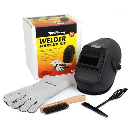 Forney 377 Welder Start up Kit, Contains all the basic welding accessories you need to get started: Bandit Flip Front Welding Helmet with fully adjustable ratcheting.., By Forney