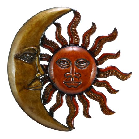 Sun Hanging Metal Decor (Metal Sun Moon Wall Decor Discounted Wall Art)