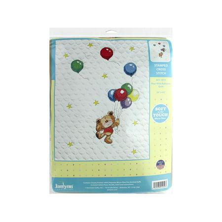Janlynn Cross Stitch Kit Baby 34x43 Bear/Ballons (Janlynn Bear)