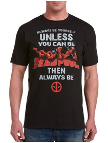 d25c6f4ac2d Men s Big   Tall Marvel Comics Always Be Deadpool Graphic Tee