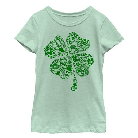 Girls' St. Patrick's Day Shamrock Sayings (St Patrick's Day Tee Shirts)