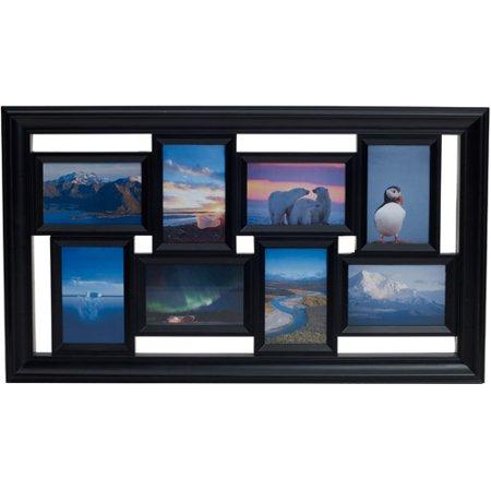 melannco 8 opening photo collage black picture frame. Black Bedroom Furniture Sets. Home Design Ideas