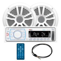 """Boss Audio MCK1307W.6 - In-Dash Digital Media AM/FM Marine Stereo Receiver Package with 6-1/2"""" Speakers"""