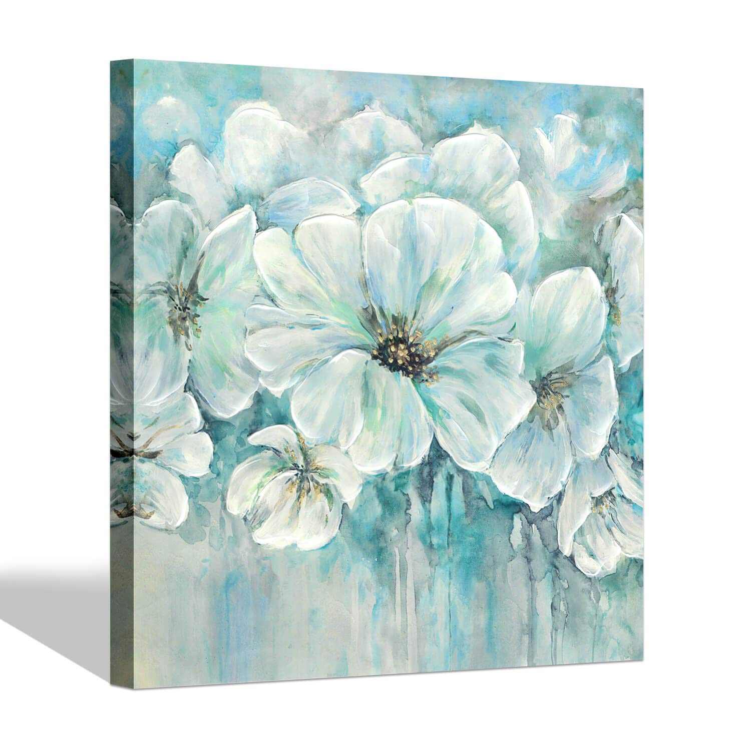 Floral Blooming Canvas Prints Wall Art Succulents Flowers Painting Picture Artwork 16 x 12 x 3 Panels