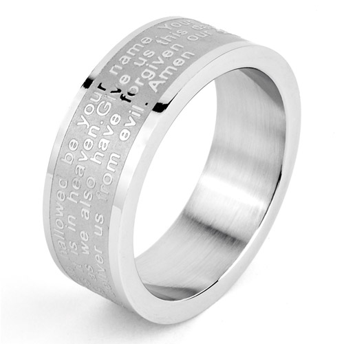 Mens Stainless Steel Lords Prayer Ring Walmartcom