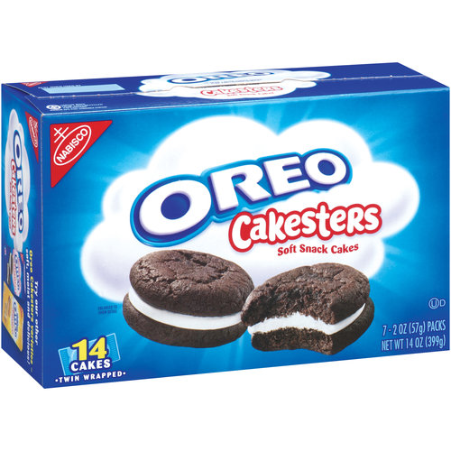 Nabisco Oreo Cakesters Soft Snack Cakes, 2 oz, 7 count