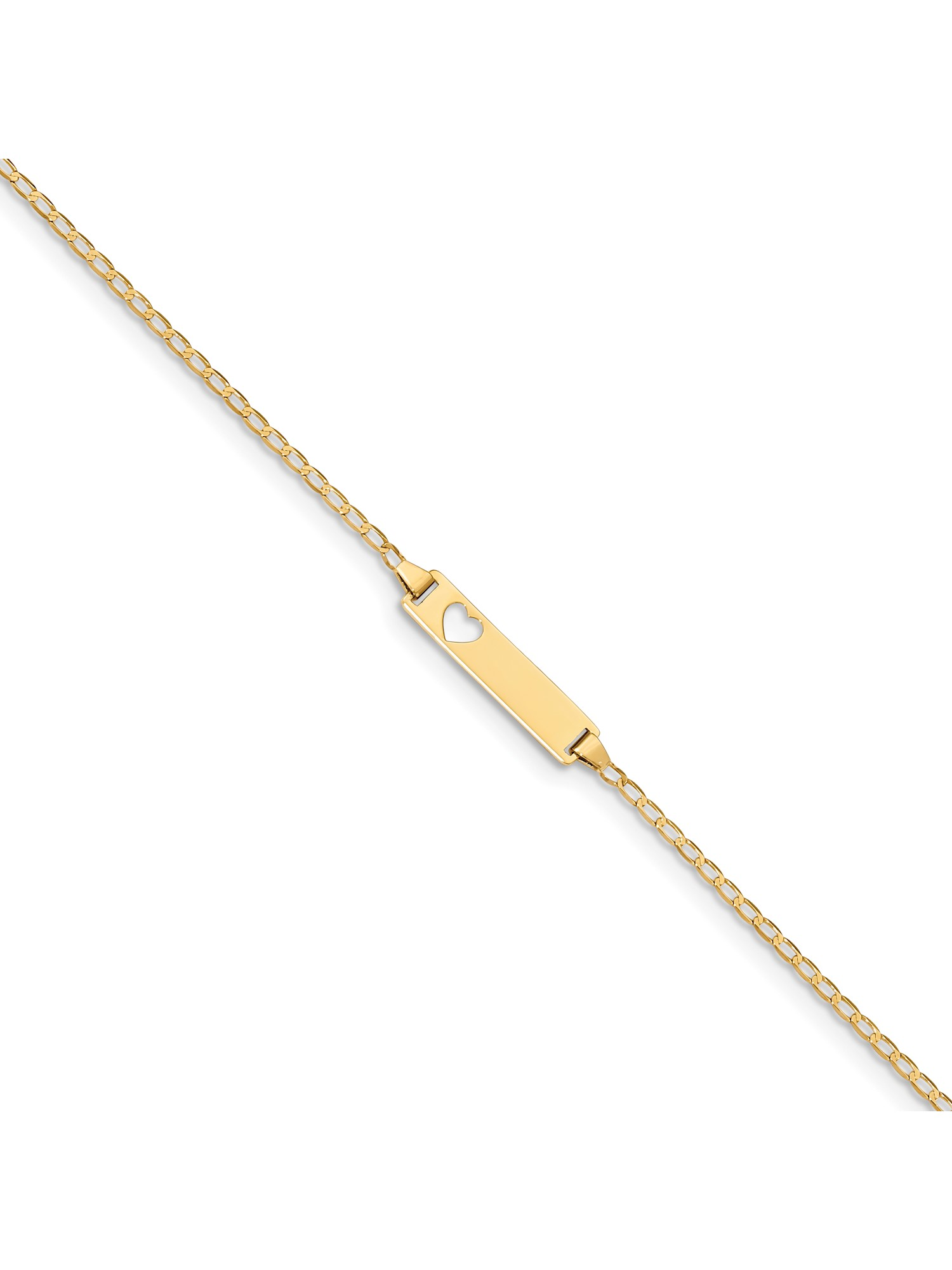 14k Yellow Gold Baby ID Curb Bracelet