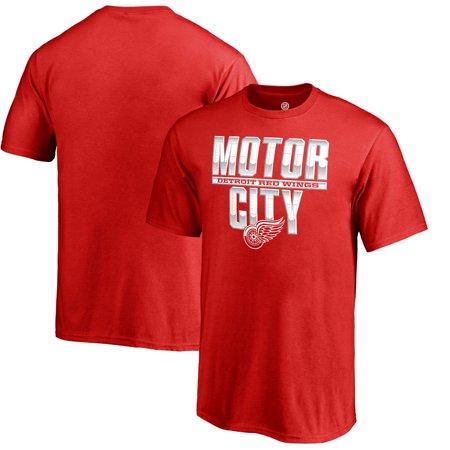 Detroit Red Wings Fanatics Branded Youth Fan Favorite Team Slogan T-Shirt - Red