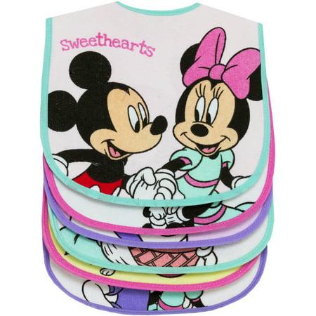 Minnie Mouse 1st Birthday Bib (Minnie Mouse Ap 6pk Girls Feeder)