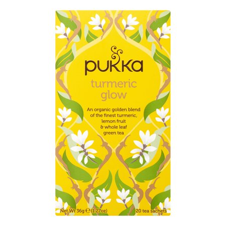 Pukka Herbs Organic Turmeric Glow Herbal Tea Bags, 20 Ct (Pukka Sampler)