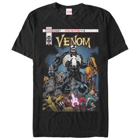 Marvel Men's Venom Lethal Protector Pile T-Shirt - Marvel Suits