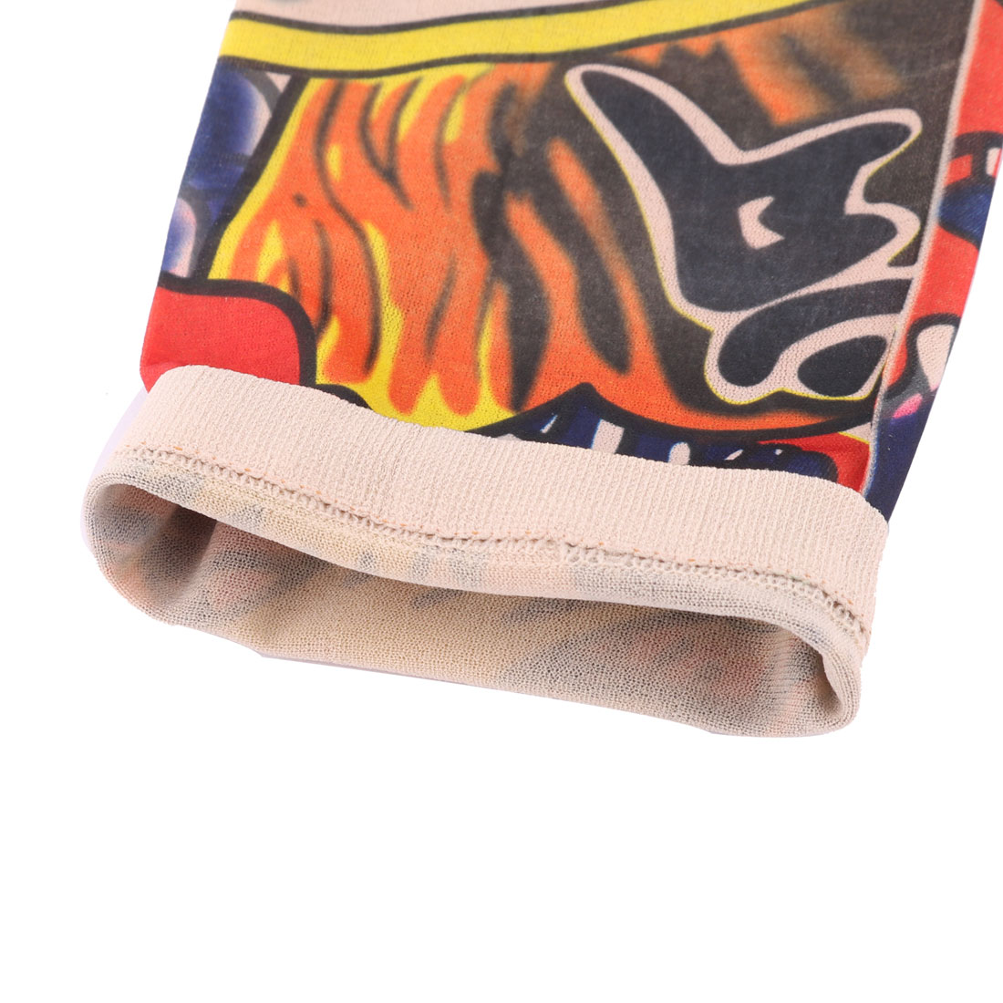 Unique Bargains Outdoor Nylon Cow Pattern Elastic Stretch Sport Arm Protector Sleeve Oversleeve - image 2 of 4