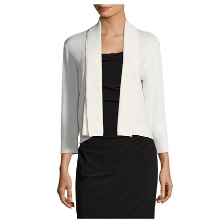 Three-Quarter Sleeve Shawl Sweater (Calvin Klein Embroidered Sweater)