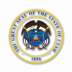 3.8 Inch Utah State Seal Vinyl Transfer Decal (Utah State Seal)