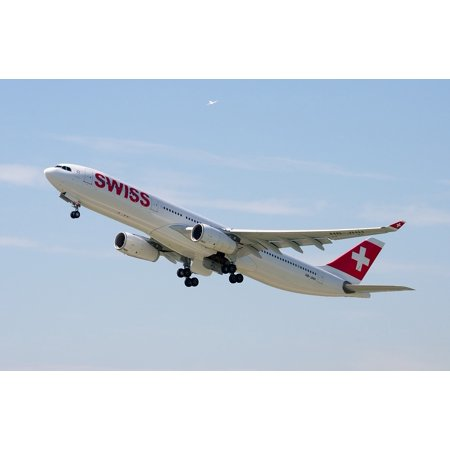 Canvas Print Jet Airport Zurich Swiss Airlines Airbus A330 Stretched Canvas 10 x