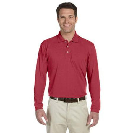 Harriton Men's 5.6 oz. Easy Blend™ Long-Sleeve Polo - Harriton Mens Easy Blend