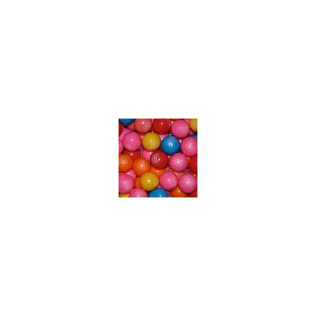 Branded Dubble Bubble Rainbow Flavor Gumballs 23mm 1,080 ct Pack of 1 [Qty Discount / wholesale - Rainbow Gumballs