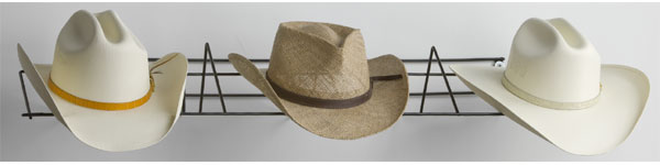 Cowboy Hat Rack Ð Holds 3 Cowboy Hats or 5 baseball caps by Rack'Em Racks