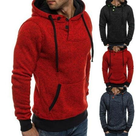 Fashion Mens Winter Slim Hoodie Warm Hooded Sweatshirt Coat Jacket Outwear Sweater Top Hot