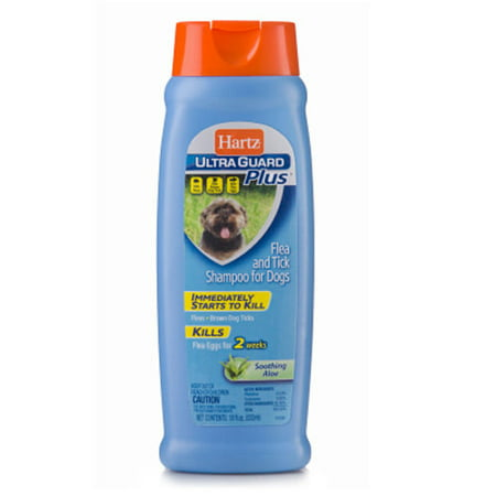 Hartz ultraguard plus soothing aloe flea & tick shampoo for dogs, 18-oz (Best Dog Shampoo For Hair Loss)