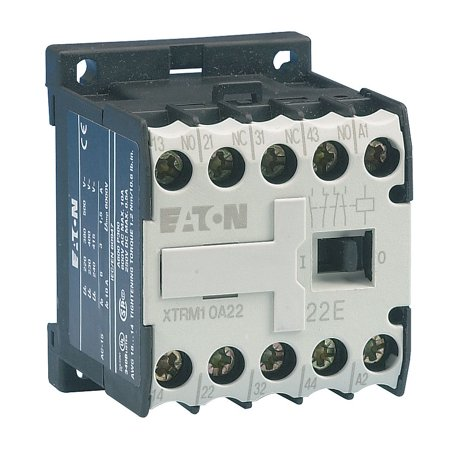 Eaton Miniature IEC Magnetic Contactor, 480VAC Coil Volts, 9 Full Load Amps-Inductive, 1NO Auxiliary Conta - XTMC9A10C