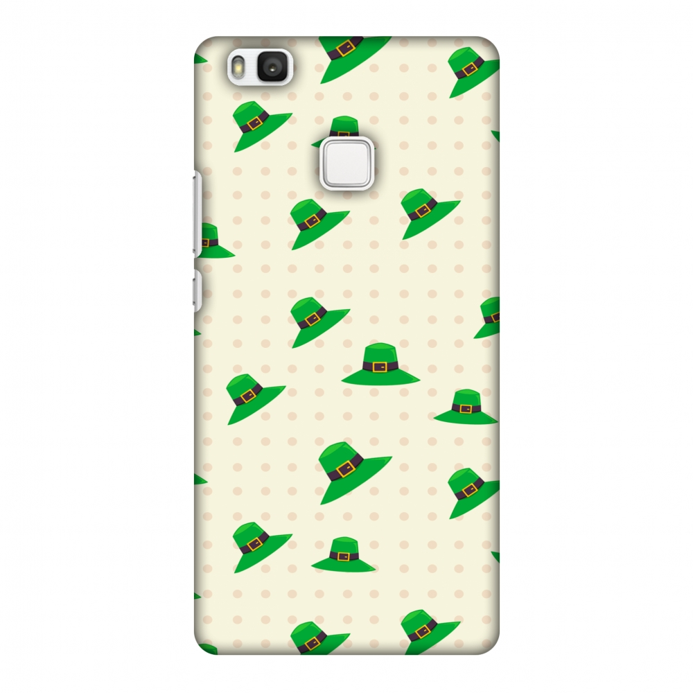 Huawei P9 Lite Case, Premium Handcrafted Printed Designer Hard Snap on Shell Case Back Cover for Huawei P9 Lite - Irish Hats - Green