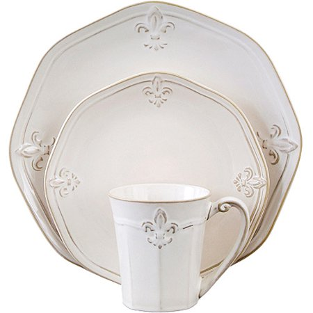 Better homes and gardens country crest 16 piece dinnerware set for Better homes and gardens dinnerware